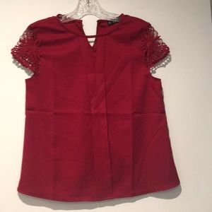 Dark red dressy tee